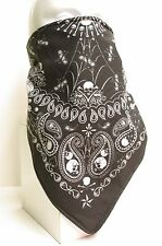 Paisley Skull Bandana fleece lined motorcycle skiing face mask
