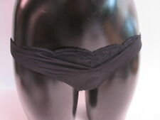 Cotton Club 23I Black Cross Over Front Ladies Thong - UK 10-12 #41B353