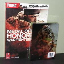 Medal of Honor Warfighter XBOX 360 Lot: Limited Edition Steelbook/Strategy Guide