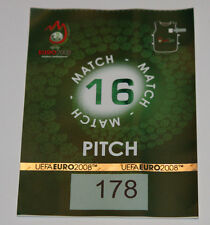 OLD TICKET PASS to Pitch * Rare * EURO 2008 * Greece Russia in Salzburg