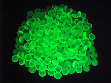 30 YELLOW VASELINE URANIUM GLASS LUCKY ROCK GEMS GLOWS          (( id189897))