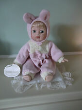 """Knightbridge Collectable doll Lisa - Sitting height 8"""" incl the ears"""