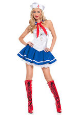 Brand New Baby Blue Nautical Sailor Adult Costume