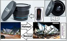 Super Wide Hi Def Fisheye Lens for Panasonic HC-X1000 HC-W850 HC-V750