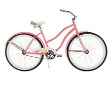 Road Beach Bike Cruiser 26 Inches Single Speed Steel Frame Outdoor Coral Pink