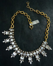 "NWT J. CREW PETITE STONE MULTI-SHAPES FACETED CRYSTAL NECKLACE 16""L"