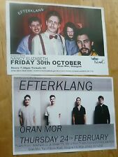 Efterklang Scottish tour Glasgow concert gig posters x 2