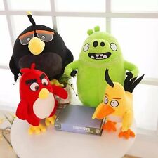 25CM Angry Birds Yellow Red Black Soft Plush Toys Stuffed Animal Dolls 4 Styles