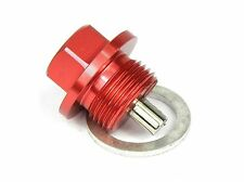 Magnetic Oil Sump Drain Plug - Honda Accord -  M14x1.5 RED Includes washer