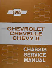 Best 1965 Chevy Shop Manual SS Impala Bel Air Biscayne Chevrolet Service Repair
