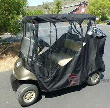 2 Passenger Driving Enclosure Golf Cart Cover.Fit EZ Go,Club Car,Yamaha Cart.BLK