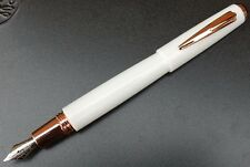 Taccia by ItoYa. P800 Fountain pen. White. Rose gold fittings. New old stock.