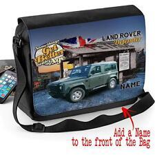 Personalised Land Rover Defender Classic Car Vintage Shoulder Messenger Bag Gift