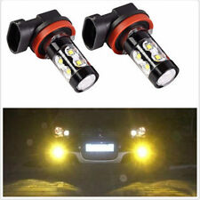 2x 50W H11 H8 H9 High Power LED CREE 3000K Amber Fog Lights Bulbs