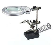 16129A Soporte con lupa  especial manos libres para electronica y Hobby + soport