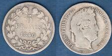 Louis Philippe Ier , 1830 - 1848 Tranche Relief Tete Laurée 1840 K Bordeaux TB