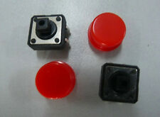 10x Tactile Red Push Button Switch Momentary Tact & Cap ay