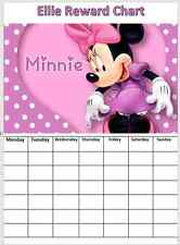 Minnie Mouse Personalised Reward/Behaviour Chart with stickers