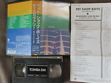 PET SHOP BOYS Discovery-Live in Rio JAPAN VHS VIDEO w/PS+INSERT TOVW-3217 FreeSH