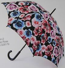 "FULTON, KENSINGTON-1 ""COLOR POP ROSE"" MANUAL STICK RAIN & WEDDING UMBRELLA-NWT"