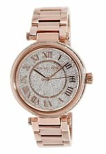 New 100% Authentic Michael Kors Skylar Crystals Dial Lady Rose Gold Watch MK5868