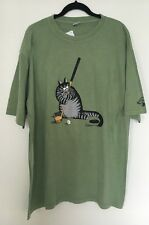 Authentic Crazy Shirt B. Kliban Golf Putting Cat Money Dyed T-Shirt Sz XL NWT