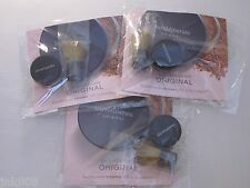 BARE ESCENTUALS bareMinerals ORIGINAL Foundation & Brush Sample Set x3 * LIGHT *