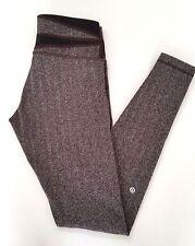 Lululemon Wunder Under Pant Size 8 Herringbone Black Gray Brown Quilt GHWE RARE