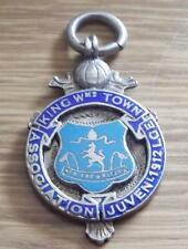 KING WILLIAMS TOWN JUVENILE FOOTBALL LEAGUE 1912 STERLING SILVER FOB MEDAL