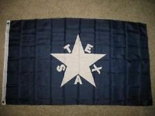 3x5 First Republic of Texas Zavala Perma Dye Poly Flag 3'x5' Brass Grommets