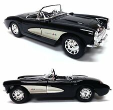 1957 Chevrolet Corvette Black 1/18 Diecast Model Car By Maisto Special Edition