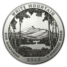 2013 25c 5 oz. Silver ATB America the Beautiful- White Mountain NP Coin SKU28512