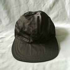 Very cool Vintage PRADA signature nylon brown cap Sz L