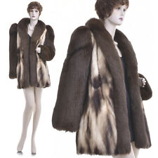 Mint! Extremely Beautiful Real Golden Fitch w/Fox Fur Coat/Jacket