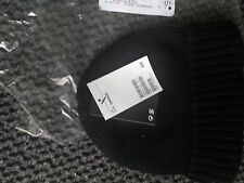 CHILDRENS H&M Knitted HAT SIZE One Size 6-8 YEARS black hat HM wool blend