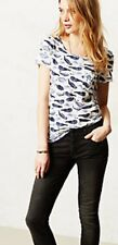 Anthropologie Postmark Watercolor Chatty Whale Tee Euc S