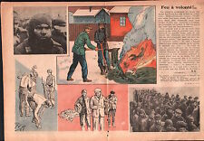 WWII War Red Army prisoners Finland Epidemic Typhus Russia 1940 ILLUSTRATION