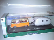 VW VOLKSWAGEN BUS SAMBA & CAMPER 1:43 CARARAMA NEW IN BOX.