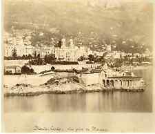 Monte Carlo, vue prise de Monaco Vintage albumen print Tirage albuminé  21
