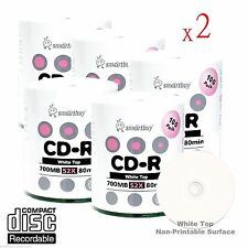1000-Pack SmartBuy Grade A+ Blank CD-R 52X 700MB/80Min White Top Recordable Disc
