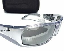 NEW* Arnette SAWBUCK in SILVER Metallic Sport CHROME Iridium Sunglass 4154 $120