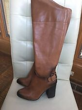 NEW VINCE CAMUTO SIDNEY WARM BROWN BUTTER WC WIDE CALF KNEE HIGH BOOTS Size 6.5