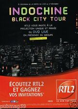Publicité advertising 2014 Radio RTL 2 Avec Indochine Black City Tour