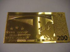 BILLET 200 EUROS REPLICA OR GOLD 24K