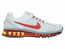 Nike Air Max 2013 Leather 599455-100 White Red Grey Athletic Running Shoes Sz 8
