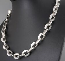 "22"" 152g HUGE HEAVY CLASSIC BARAKA 925 STERLING SILVER MENS NECKLACE CHAIN PRE"