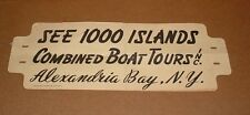 Old 1000 Islands Boat Tours Paper Bumper Sticker/Sign      Alex Bay NY