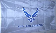 U.S. Air Force 3' x 5' Flag White & Blue on Silver. Licensed Military New  Poly