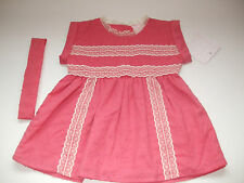 DYLAN & ABBY 3 - 6 MONTH BABY GIRL PINK SUMMER DRESS WITH MATCHING HEADBAND BNWT