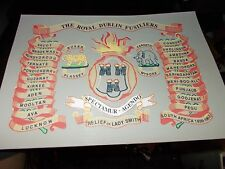 THE ROYAL DUBLIN FUSILIERS REGIMENT BATTLE HONOURS PRINT A4